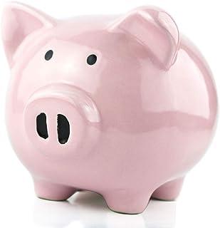 Pink Piggy Banks for Girls Boys Kids,Adult Coin Bank