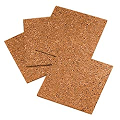 """Design your own bulletin board, any size or any shape, or cover a whole wall with self stick cork panels Use push pins or tacks to secure documents and photos in the cork; Each tile is 12""""w x 12""""h Provides the added benefit of noise absorption in lou..."""