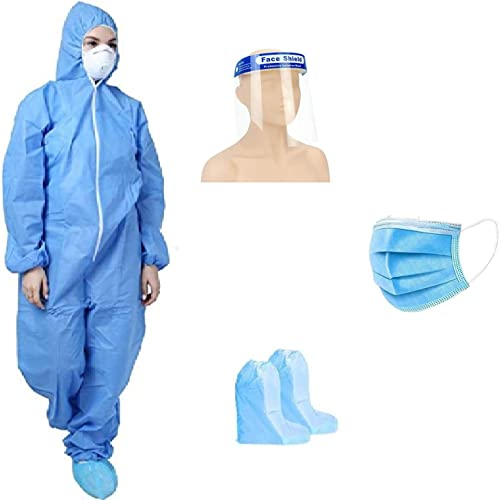 GOHNA Personal Protective Equipment Kit PPE Kit Disposable Full Dress Blue Product