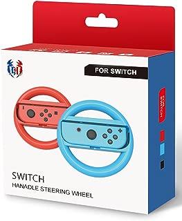 GH 小型サイズの子ども向け Switch マリオカート 8 デラックス ハンドル , Nintendo スイッチ ジョイコン (Joy-Con) コントローラー 専用 2個 セット(赤1+青1)