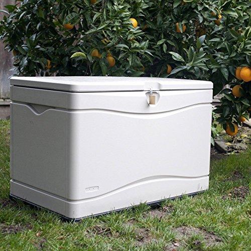 LIFETIME 60059 Black Bottom & Desert (Tan) Sides and Lid Outdoor Storage...