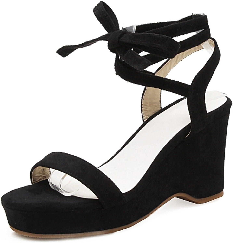 SaraIris Women's Floral Print Platform High Heel Slingback Summer shoes Buckle Casual Sandals