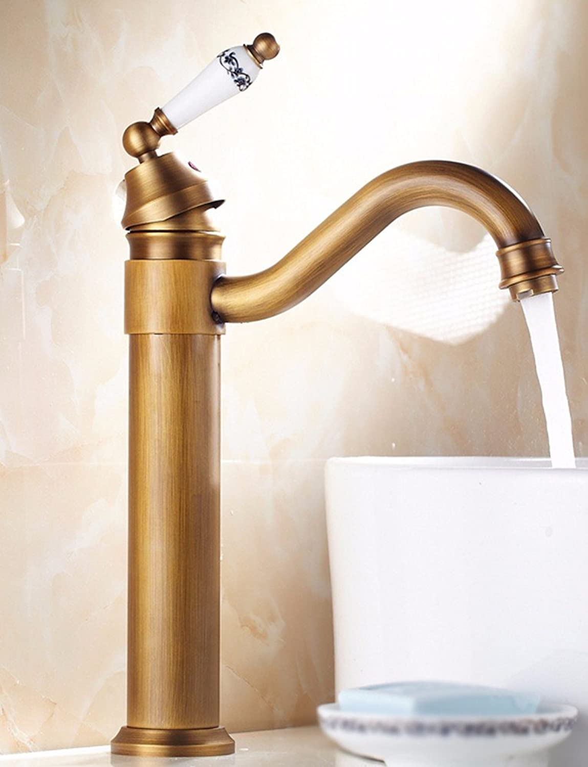 Hlluya Professional Sink Mixer Tap Kitchen Faucet Copper, cold and hot, Single Hole, redate, basin taps, 7