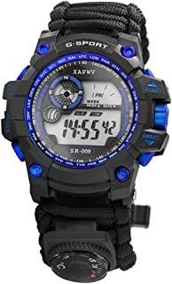 Walory Reloj Digital - Reloj Deportivo Digital de Supervivencia Reloj Repelente Al Agua Reloj de Supervivencia de Emergenc...