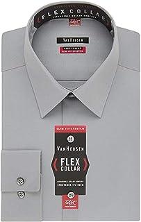 Van Heusen mens Dress Shirt Regular Fit Flex Collar Stretch Solid Dress Shirt (pack of 1)