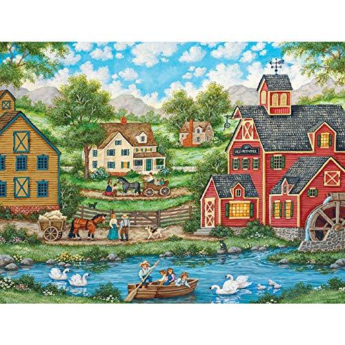 Abkaeh Puzzle 1000 Piezas Jardín Soleado Puzzles de Suelo para Niños Adultos Adolescentes Familia Educativa Intelectual Descompresión 50x75cm