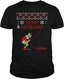 Poogky Merry Grinchmas Grinch Stealing Christmas T-Shirt
