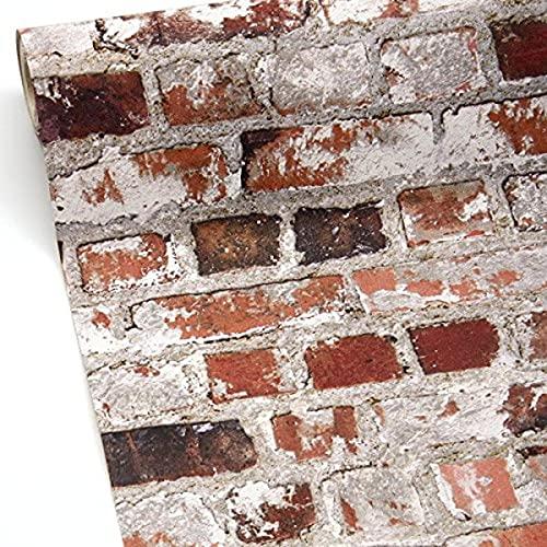 Ugepa 102538 Papier peint Rouge brique/blanc