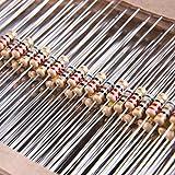 SIQUK 925 Pezzi Resistenze 37 Valori 5% Kit Resistore a Pellicola di Carbonio 0 Ohm-1M Ohm 1/4W Resistenze per Altri Progetti di Elettronica