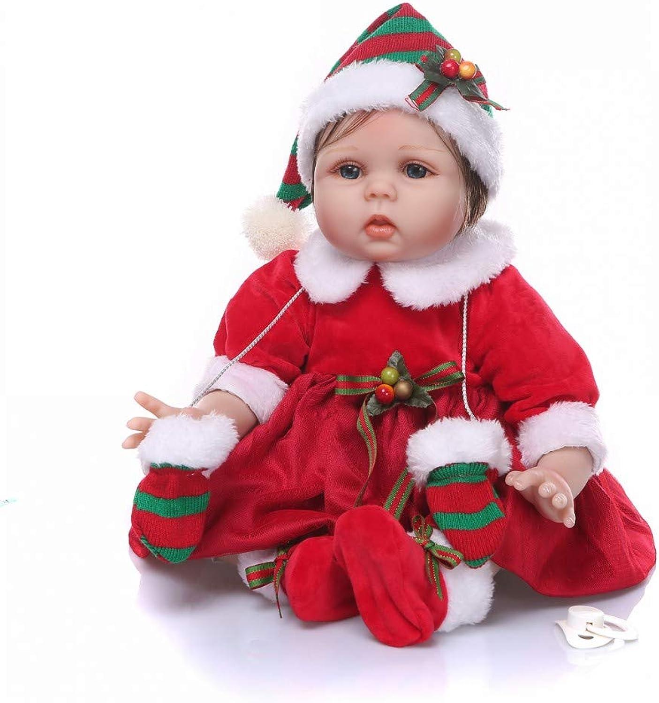 ZIYIUI Bambole Reborn Realtà Neonatale Vinile in Silicone Morbido 55 cm 22 Pollici Bambolina Reborn bambola Simulazione Bello Ragazza Regalo di Natale Giocattolo Magnetico