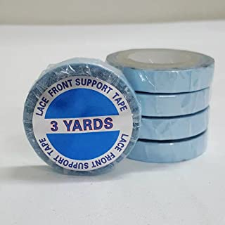 showjarlly, 1 rollo de cinta adhesiva de doble cara super azul encaje cinta de soporte delantera 0,8 * 3 yardas fuerte Adh...