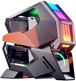 DunShan Caja Computadora Caja Expansión Host Ranura Modificación Independiente Placa Base Compatible Mini ITX/Micro ATX/AT...