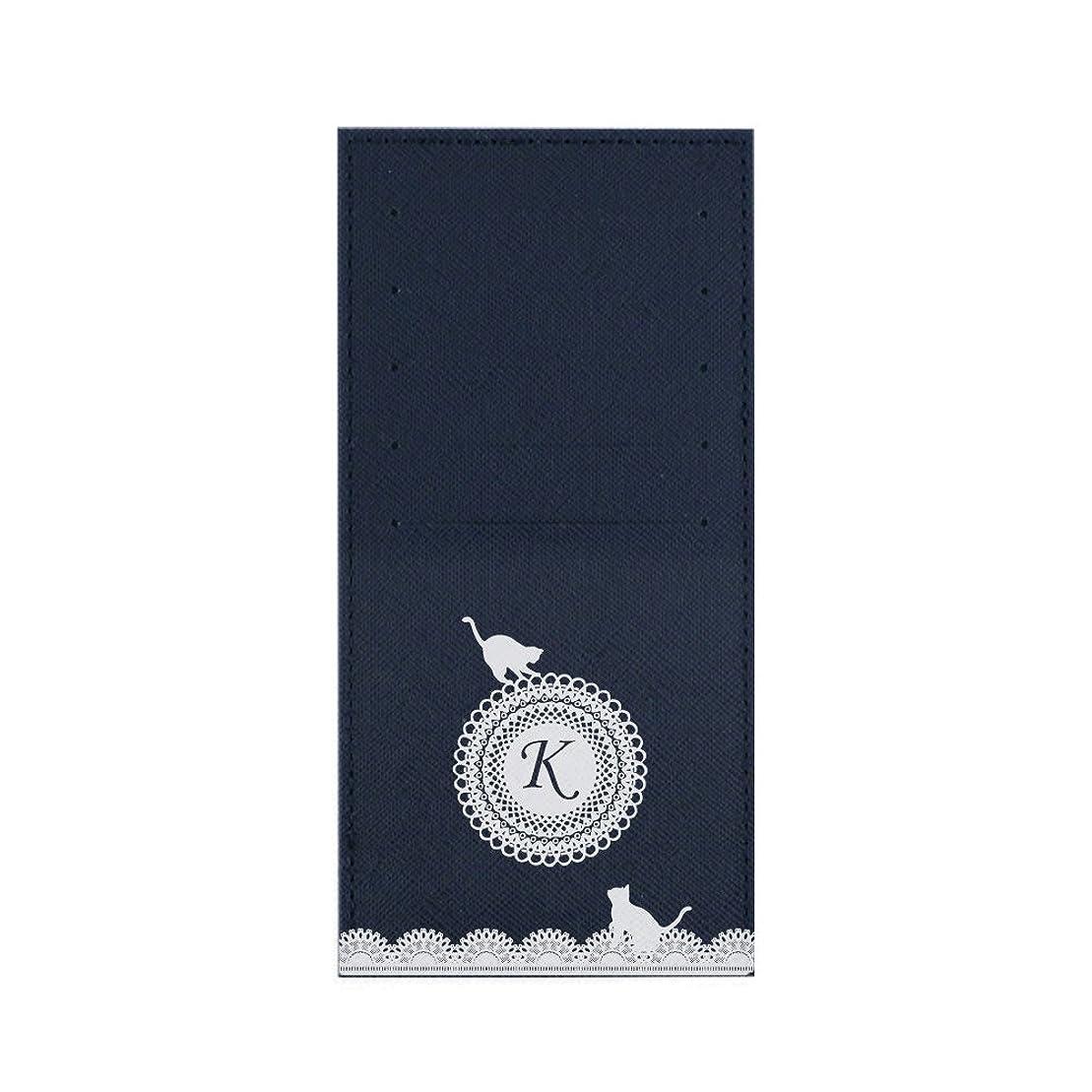 広まった石膏抑圧者インナーカードケース 長財布用カードケース 10枚収納可能 カード入れ 収納 プレゼント ギフト 3015レースネーム (K) ネイビー mirai