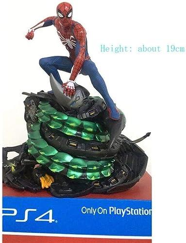 MA SOSER Avengers ps4 Jeu Spiderhomme modèle Statue scène décoration en Boîte