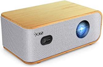 PIQS Q1 Home Theater HD Projector, 4D Auto Keystone, Side Projection, DLP, Supports 4K, WiFi, Bluetooth, with Autofocus/Keystone, Powerful Speakers, Android, Home Cinema & Backyard Projection