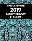 The Ultimate 2019 Family Budget Planner: Budget Journal Tool, Personal Finances, Financial Planner, Debt Payoff Tracker, Bill Tracker, Budgeting Workbook, Dot Grid, Blue Pattern Cover