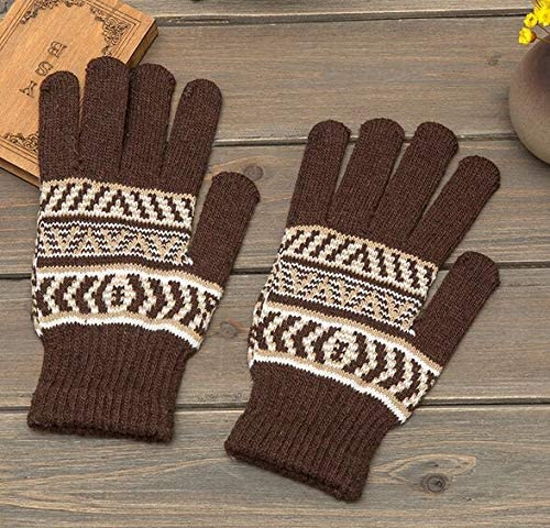 2018 New Autumn Winter Warm Men Gloves Mittens Brand Fashion Knitted Cycling Handschoenen Long 22cm - (Color: Coffee)