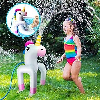 Vimite Inflatable Unicorn Yard Sprinkler
