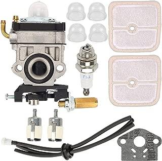 Kaymon 12300057731 Carburetor Air Filter Primer Bulb for Echo SRM2601 SRM2400 SRM2610 PE2601 Trimmer 12300057730 Walbro WYJ-192-1 Carb with Fuel Filter Line Tune Up Kit