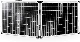 SARONIC Panel Solar Plegable Portátil de 100W y 12V con un Controlador de Carga Solar de 10A para Caravanas, Barcos o Cualquier otra Actividad al Aire Libre