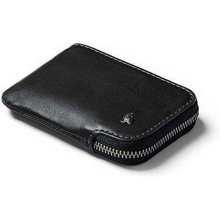 Bellroy Leather Card Pocket Wallet, Cartera con Cremallera Slim (Máx. 15 Tarjetas, Billetera y Monedero) - Black