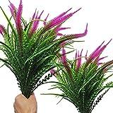 Ollain Artificial Flowers, 6 Pcs Outdoor UV Resistant Fake Flower Shrubs Plants Faux Plast...