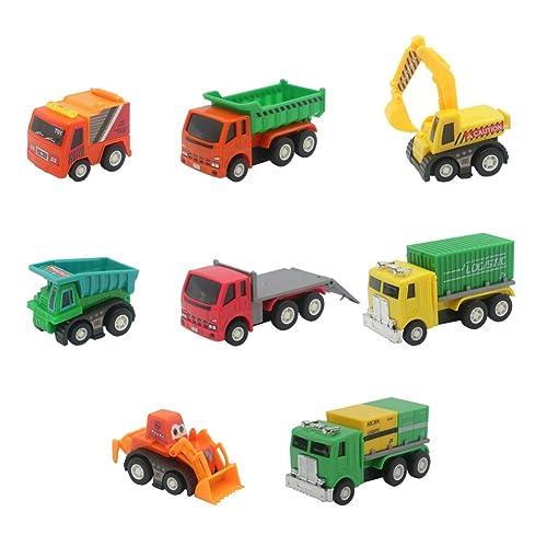 Akokie Baustellen Fahrzeuge Rückzug Auto Spielzeug Einem Set Fahrzeug Kinder 3 4 5 6 , MEHRWEG