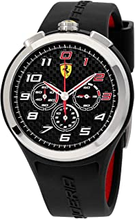 Ferrari Men's 0830100 Ready Set Go Analog Display Quartz Black Watch