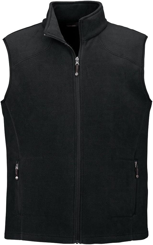 Ash City Mens Voyage Fleece Vest (Small, Black)