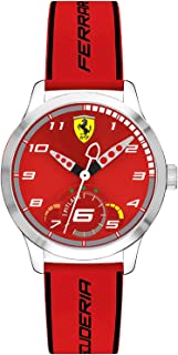 Ferrari Unisex-Adult Quartz Watch, Analog Display and Silicone Strap 860004