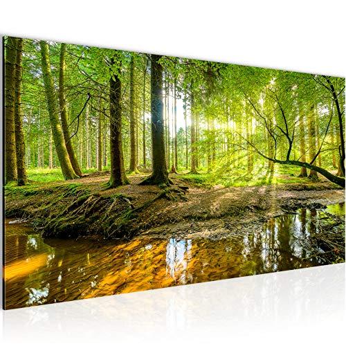 Wandbilder Wald Landschaft Modern Vlies Leinwand Wohnzimmer Flur Natur Grün 611712a