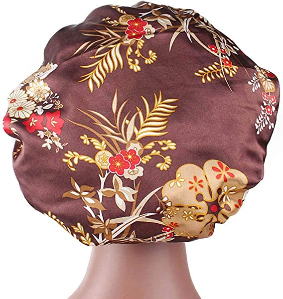 Lomsarsh New Printed Wide Brimmed Hairband Nightcap Baggy Confinement Hat Head Scarf Turban Wrap Cap For Chemo Alopecia Hair Loss