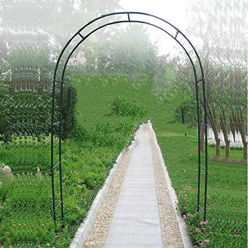 ZH-1 Arco da Giardino Semplice per Piante Rampicanti, Arco Sostegno in Ferro Battuto Robusto, Verde, W140XH240CM, W185XH240CM