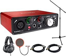 Focusrite Scarlett Solo USB Audio Interface (2nd Generation) with Pro Tools Includes Bonus Audio-Technica Professional Monitor Headphones and More
