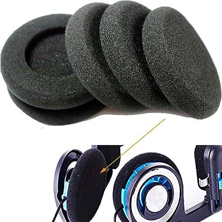 6pcs 2inch Earphone Sponge Foam Pads Cushions for Koss Porta Pro PP PX100 for Sony Sennheiser Philips Panasonic RP-HT21 AKG Headphones 50mm Foam Ear Pads (Black)