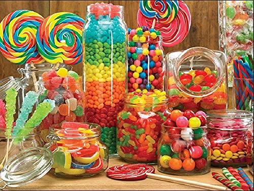 Puzzle 1000 Pezzi-Zucchero Colorato- Giocattoli di decompressione Regalo Intrattenimento per la famiglia Gioco Decorazione natalizia Gioco Puzzle grande per bambini