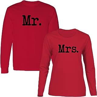 We Match! Mr. & Mrs. Matching Couples Long Sleeve T-Shirt Set