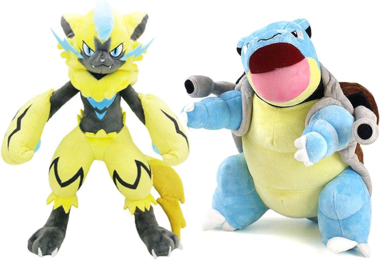 2Pcs 30Cm Pokemon Pet Plush Zeraora Blastoise Cartoon Anime Recommended overseas Toy