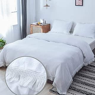 Best white tassel quilt cover Reviews