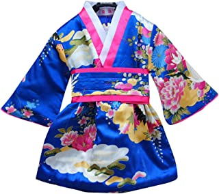 Japanese Girls Toddler Baby Kimono Robe Dress Outfit Costume