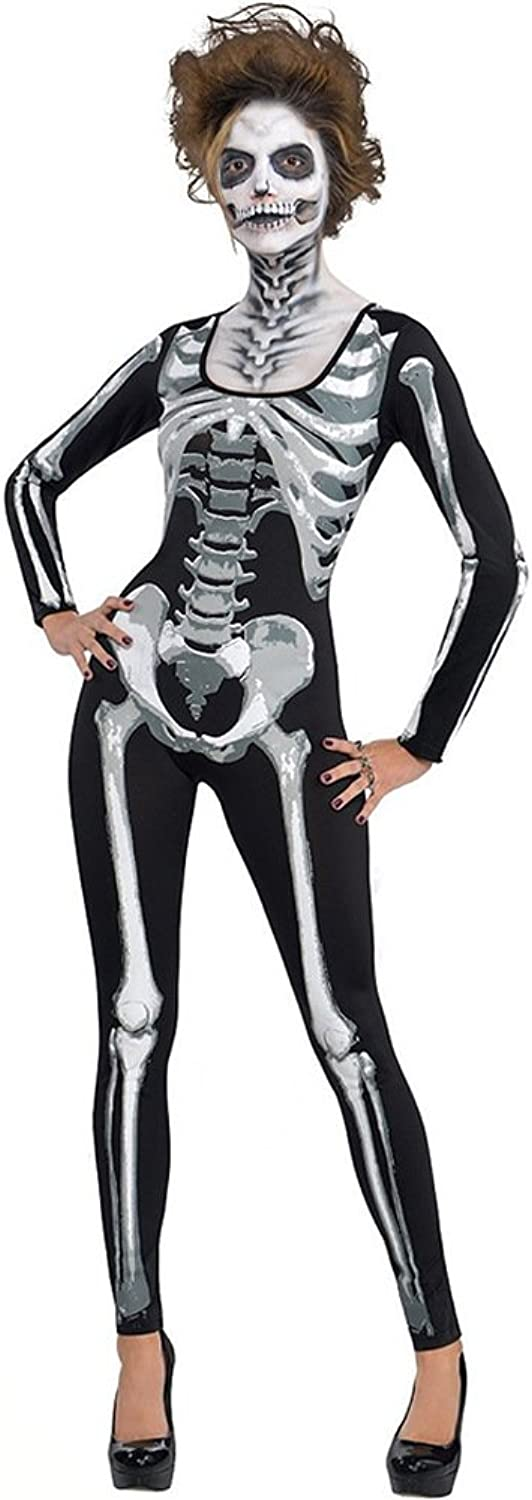 Halloween Bodysuits Costumes for Women 3D Skull Printing Ghost Party Performance Cosplay Jumpsuits
