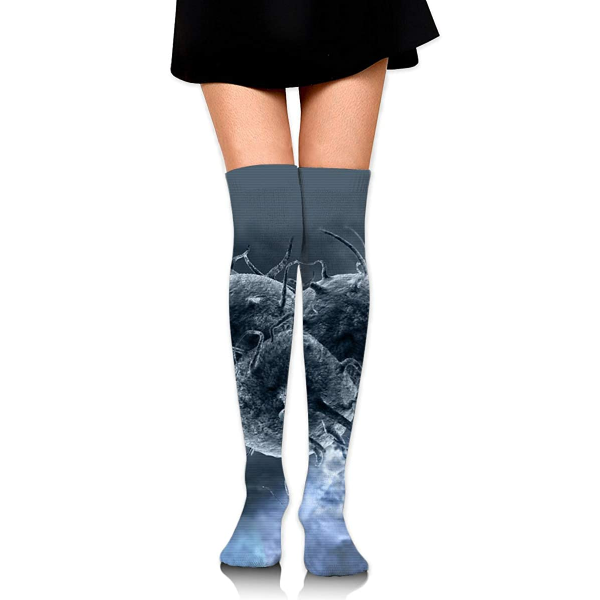 Women Crew Socks Thigh High Knee Microorganism Long Tube Dress Legging Athletic Compression Stocking