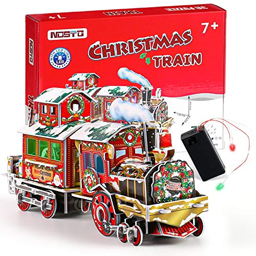 Amor 3D Christmas Train Jigsaw Puzzles Jigsaw Express for Christmas Birthday and Valentine