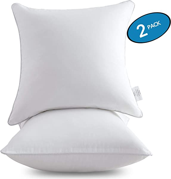 MoMA 18 X 18 Pillow Inserts Set Of 2 Throw Pillow Inserts With 100 Cotton Cover 18 Inch Square Interior Sofa Pillow Inserts Decorative Pillow Insert Pair White Couch Pillow