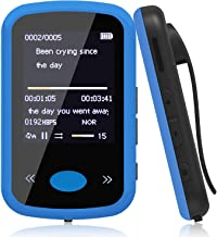 Alexan 8GB MP3 Player with Bluetooth 4.2 Wearable MP3 Player with Clip, Portable Lossless Sound Music Player with Headphones FM Radio, Pedometer,Voice Recorder ( 8GB Blue )