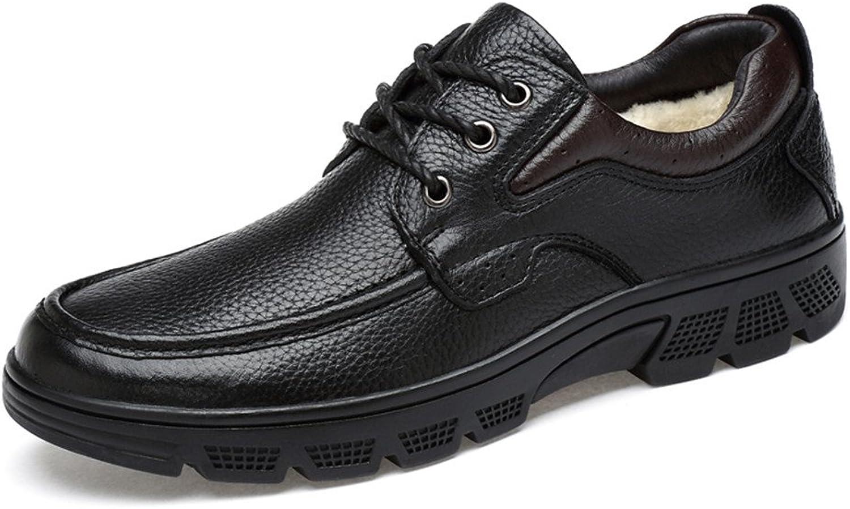 RONGLINGXING Mode Winter Winter Outdoor Herren Business Casual Oxford Soft Aseismatic Light Gürtel Laufsohle Formelle Schuhe (Warm Velvet Optional) (Farbe   Warm schwarz, Größe   48 EU)  mit 60% Rabatt