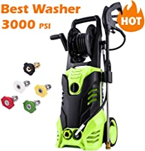 Homdox 3000 PSI Electric High Pressure Washer 1.80 GPM 1800W Electric Power Washer with Hose Reel,5 Quick-Connect Spray Tips