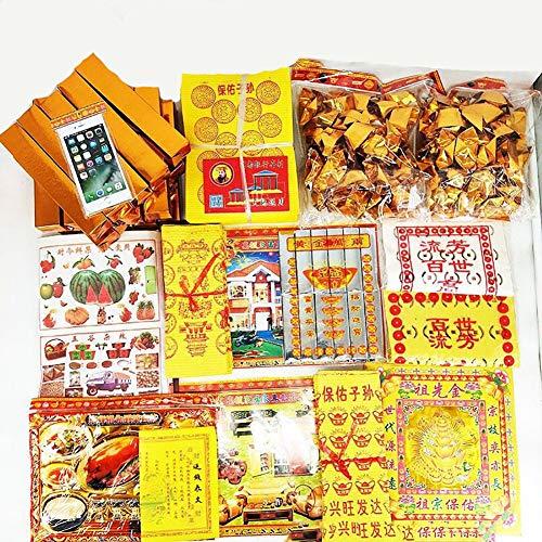 Dinero De Los Antepasados Papel Moneda, Papel Quemado Festival Ching Ming Suministros De Sacrificio...