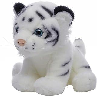 دمى ألعاب حيوانات محشوة بشكل النمر القطيفة هدايا للأولاد الصغار 8 بوصات