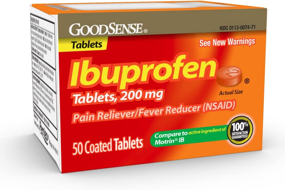 GoodSense Ibuprofen Tablets 200 mg, Pain Reliever and Fever Redu